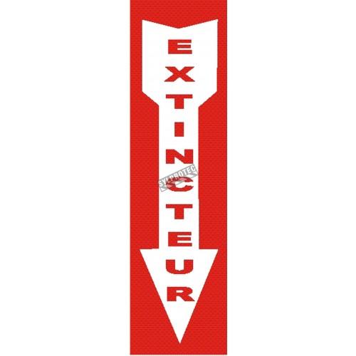 Affiche d'urgence et d'incendie «Extincteur» en divers formats, matériaux, langues & éléments optionnels