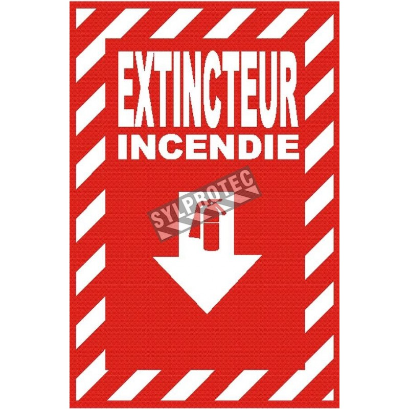"""French """"Extincteur Incendie"""" -sign of various sizes and different materials."""