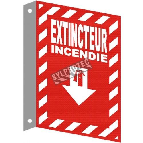 Affiche d'urgence et d'incendie «Extincteur Incendie» en divers formats, matériaux, langues & options