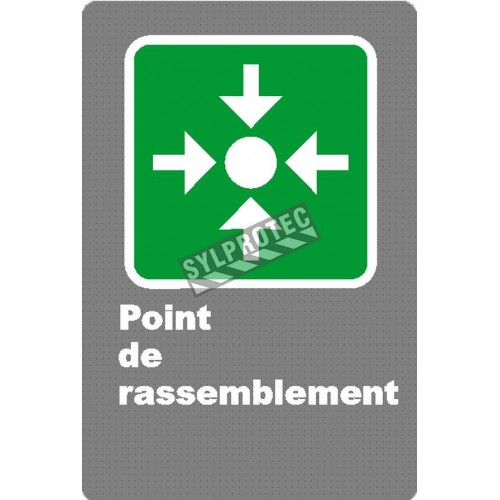 "French laminated CSA ""Rally Point"" sign in various sizes, shapes, materials & languages + options"