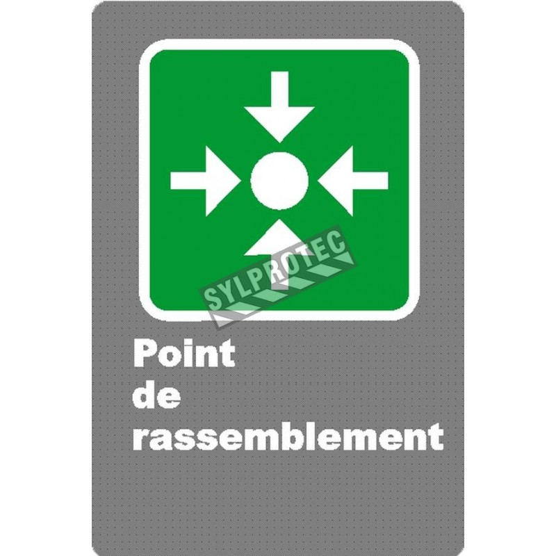 """French laminated CSA """"Rally Point"""" sign in various sizes, shapes, materials & languages + options"""
