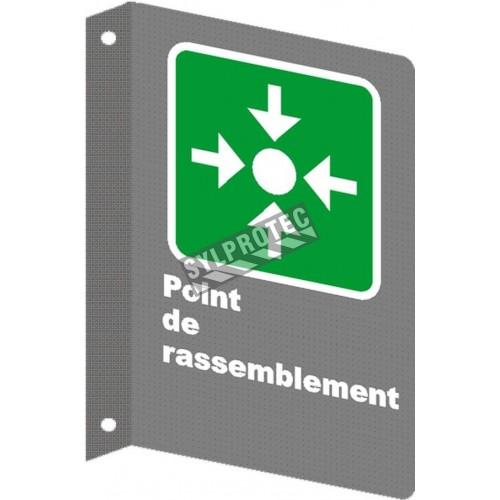 Affiche CSA «Point de rassemblement» laminée anti-UV en français, formats, matériaux & langues variés + options