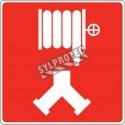 Affiche d'incendie en aluminium pour raccord-pompier double (siamois) & une colonne humide ou sèche