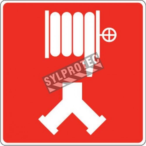 Aluminium sign for fire department standpipe or dry riser connection (Siamese)