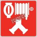 Affiche d'incendie en aluminium pour raccord-pompier double (siamois), gicleurs automatiques & colonne humide ou sèche