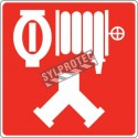 Aluminium sign for fire department combined automatic sprinkler and standpipe or dry riser connection (Siamese)