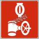Aluminium sign for automatic sprinkler control valve
