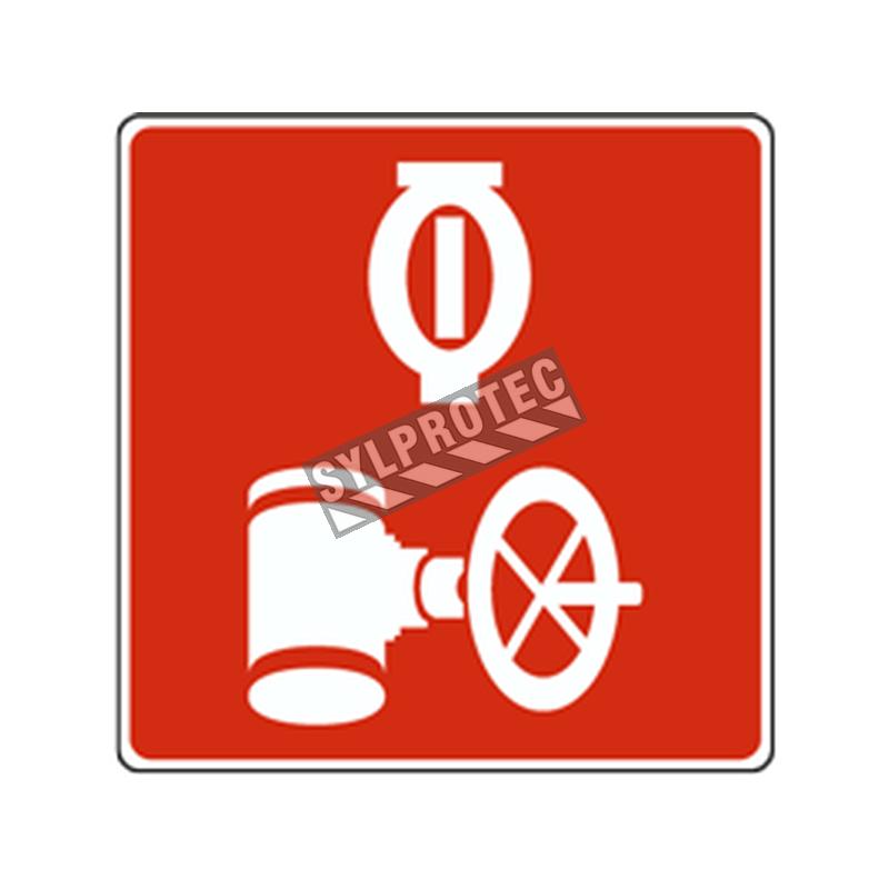 Affiche d'incendie en aluminium pour vanne de contrôle des gicleurs automatiques