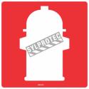 Aluminium sign for fountain bollard