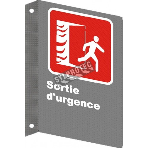 "French emergency ""Emergency Exit"" sign in various sizes, shapes, materials & languages + optional features"