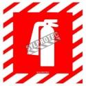 Affiche d'urgence et d'incendie «Extincteur d'incendie» en vinyle autocollant