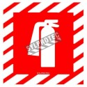 """Self-adhesive vinyl """"extinguisher """" fire safety sign"""