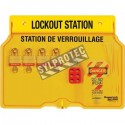 Lockout Station 4 padlocks, two hasps and 12 hazard labels do not operate (bilingual).