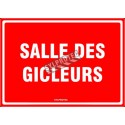 """French emergency """"Sprinkler room"""" sign in various sizes, shapes, materials & languages + optional features"""