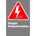 "French CSA ""Shock Hazard"" sign in various sizes, shapes, materials & languages + options"