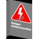 Affiche CSA «Danger d'électrocution» en français: formats variés, matériaux divers, d'autres langues & options