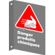 """French CSA """"Danger Chemical Products"""" sign in various sizes, shapes, materials & languages + options"""