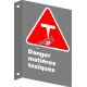 """French CSA """"Danger Toxic Substances"""" sign in various sizes, materials & languages + options"""
