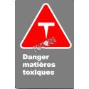 Affiche CSA «Danger matières toxiques» en français: langue, format & matériau divers + options