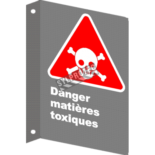 "French CSA ""Danger Poisonous Materials"" sign in various sizes, shapes, materials & languages + options"