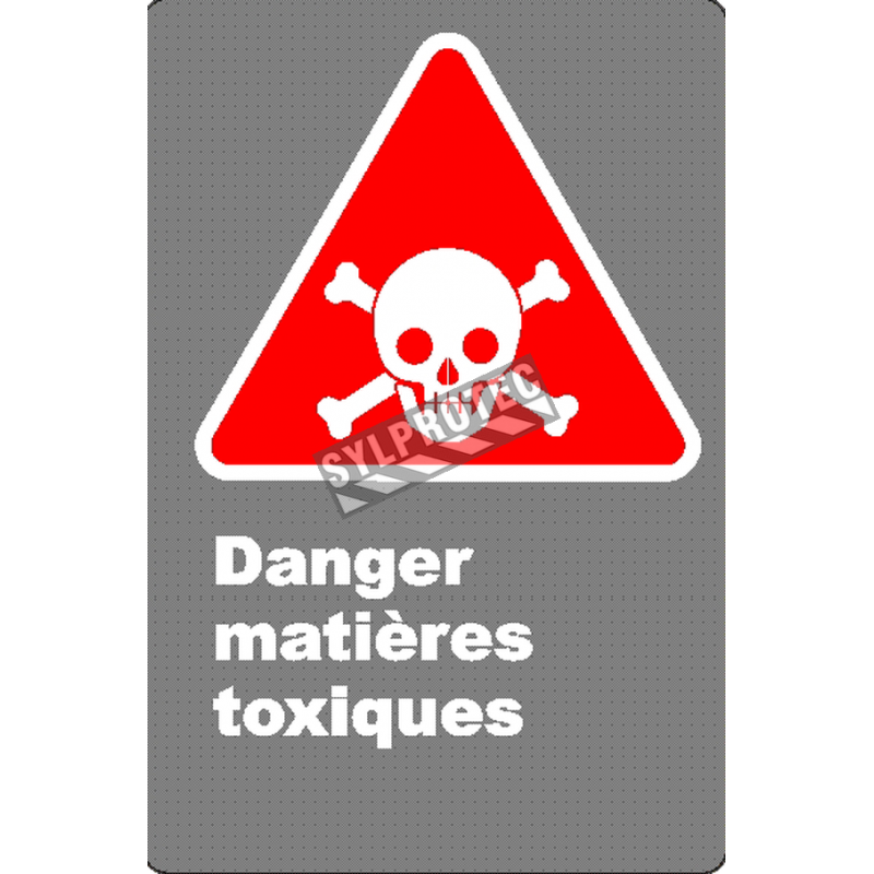 """French CSA """"Danger Poisonous Materials"""" sign in various sizes, shapes, materials & languages + options"""