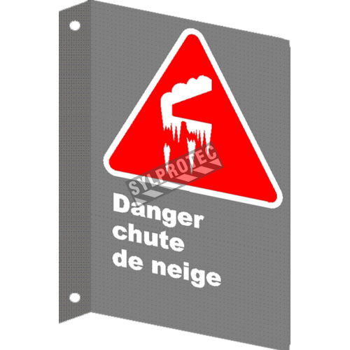 "French CSA ""Danger Snowfall"" sign in various sizes, shapes, materials & languages + options"