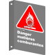 """French CSA """"Danger Oxidized"""" sign in various sizes, shapes, materials & languages + options"""