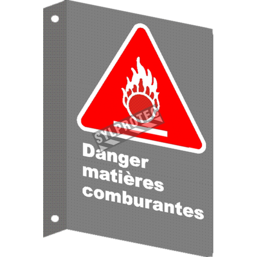 "French CSA ""Danger Oxidized"" sign in various sizes, shapes, materials & languages + options"