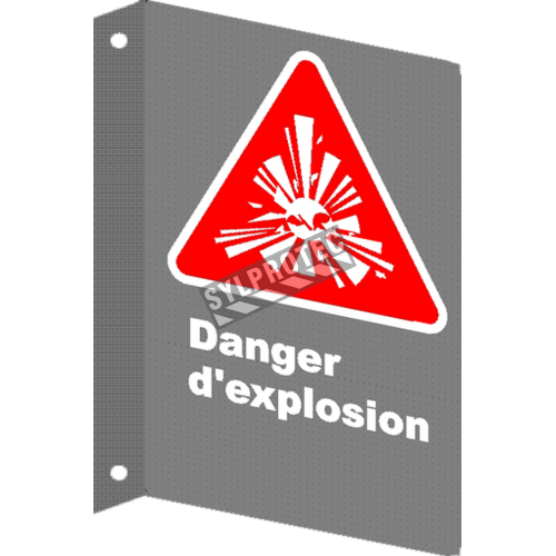 "French CSA ""Danger Explosive"" sign in various sizes, shapes, materials & languages + options"