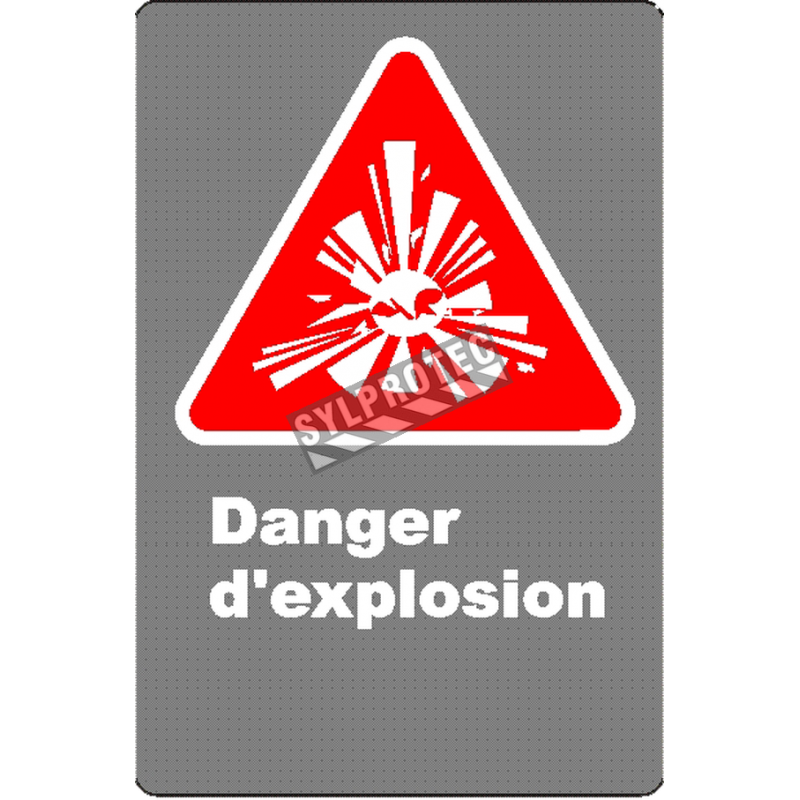 """French CSA """"Danger Explosive"""" sign in various sizes, shapes, materials & languages + options"""