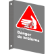 """French CSA """"Danger Burning Hazard"""" sign in various sizes, materials & languages + options"""