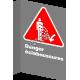 "French CSA ""Danger Splashing Hazard"" sign in various sizes, materials & languages + options"