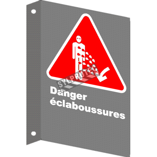 "French CSA ""Danger Splashing Hazard"" sign in various sizes, materials & languages + options"