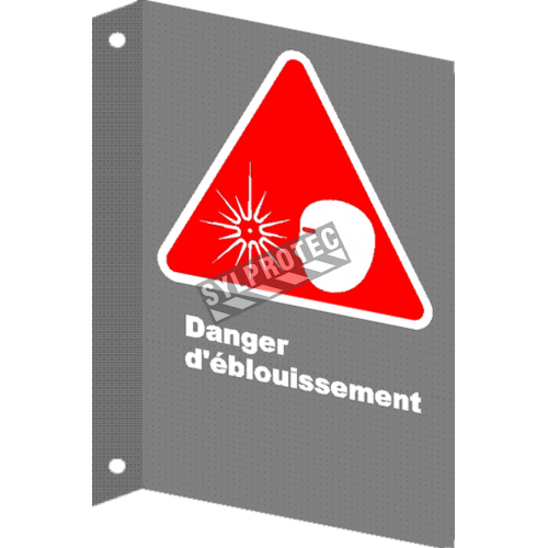 "French CSA ""Danger Risk of Glare"" sign in various sizes, materials & languages + options"