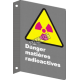 """French CSA """"Danger Radioactive Hazard"""" sign in various sizes & materials + options"""