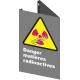 Affiche CSA «Danger matières radioactives» en français: format & matériau divers + options