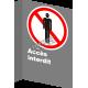 Affiche CSA «Accès interdit» de langue française: formats variés, matériaux divers, d'autres langues & options