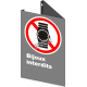 """French CSA """"No Jewelry Allowed with pictogram of a watch sign in various sizes, materials & languages"""