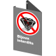 """French CSA """"No Jewelry Allowed"""" sign in various sizes, shapes, materials & languages + optional features"""