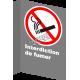 Affiche CSA «Interdiction de fumer» de langue française : formats variés, matériaux divers, d'autres langues & options