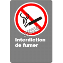 """French CDN """"No Smoking"""" sign in various sizes, shapes, materials & languages + optional features"""