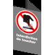 Affiche CSA «Interdiction de toucher» de langue française: formats variés, matériaux divers, d'autres langues & options