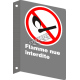 """French CSA """"No Open Flames"""" sign in various sizes, shapes, materials & languages + optional features"""