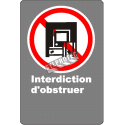 """French CDN """"Do Not Obstruct"""" sign in various sizes, shapes, materials & languages + optional features"""