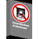 Affiche CSA «Interdiction d'obstruer» de langue française : formats variés, matériaux divers, d'autres langues & options