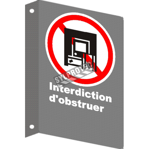"""French CSA """"Do Not Obstruct"""" sign in various sizes, shapes, materials & languages + optional features"""