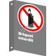 """French CSA """"No Lighters Allowed"""" sign in various sizes, shapes, materials & languages + optional features"""