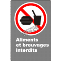 """French CDN """"No Food or Drink"""" sign in various sizes, shapes, materials & languages + optional features"""