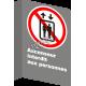 Affiche CSA «Ascenseur interdit aux personnes» de langue française: formats variés, matériaux divers & options