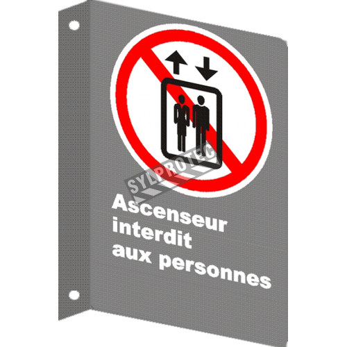 """French CSA """"Freight Elevator Only"""" sign in various sizes, shapes, materials & languages + optional features"""